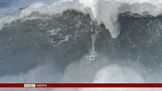 Has a plumber from UK surfed the 'biggest ever wave' (80ft/24m)? - BBC News
