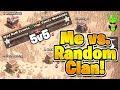 WARRING AGAINST A RANDOM CLAN BY MYSELF! - 5v5 War with my 5 Accounts - Clash of Clans - Solo War