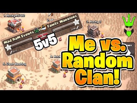 WARRING AGAINST A RANDOM CLAN BY MYSELF! - 5v5 War With My 5 Accounts - Clash Of Clans - Solo War