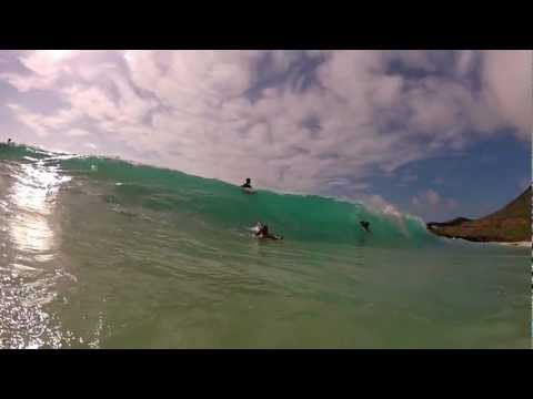 Hawaiian Waves Sandy Beach Shorebreak 12.8.2012 - GoPro Surf