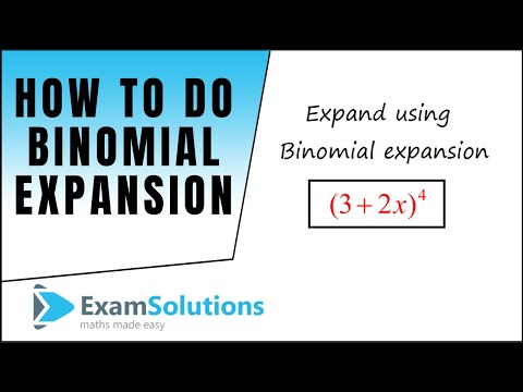 Binomial Expansion : tutorial 1 : ExamSolutions