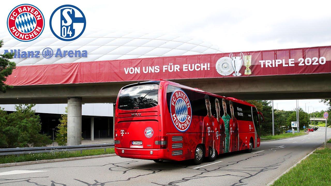 Ankunft in der Allianz Arena  FC Bayern - Schalke 04