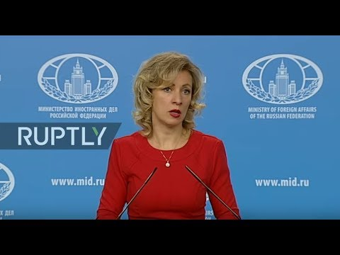 LIVE: Zakharova holds weekly briefing in Moscow