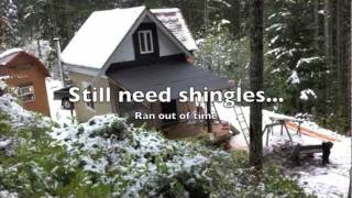 Wilderness Off Grid Cabin - Building Deck Roof