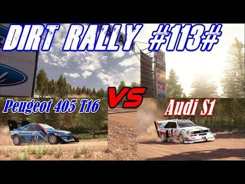 Dirt Rally #113# Audi S1 Pikes peak vs Peugeot 405 T16 Pikes peak
