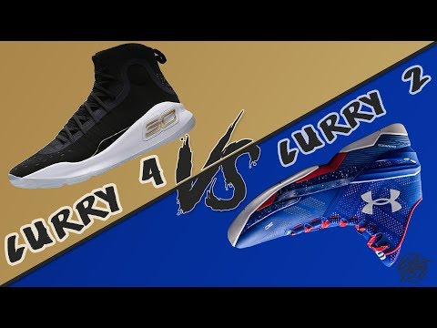 Under Armour Curry 4 vs Curry 2!