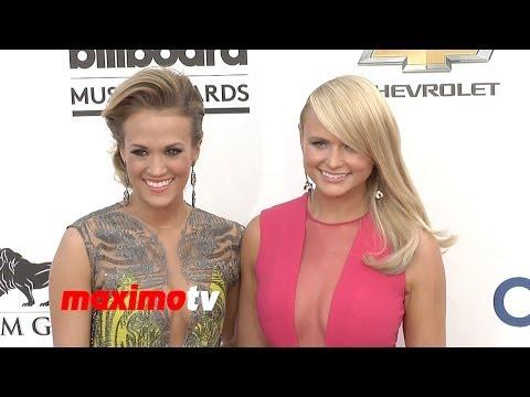 Carrie Underwood & Miranda Lambert 2014 BILLBOARD MUSIC AWARDS Red Carpet ARRIVALS