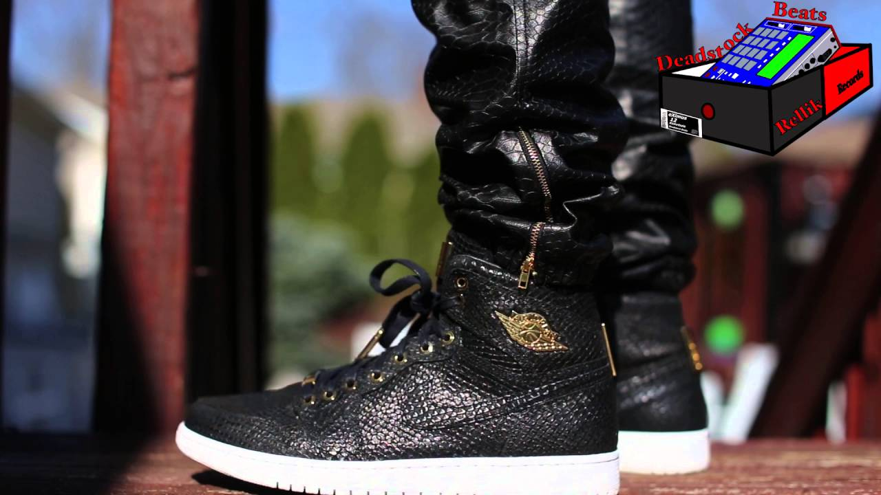 wholesale dealer eb63c 7f413 Air Jordan 1 Pinnacle Black On Feet