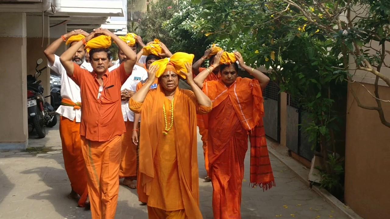 Video 1 - Hanuman Deeksha Irumudi - Jai Sri Ram  24-5-2017