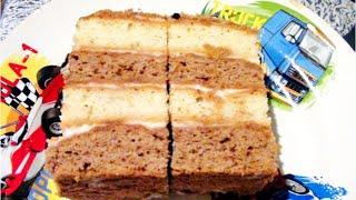Торт Новинка сметанный нежный - На день рожденья - видео рецепт