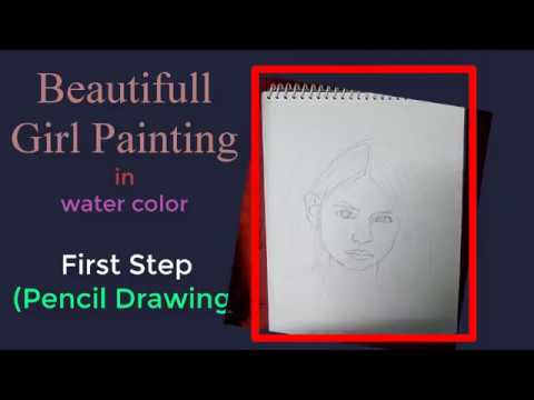 Beautiful Girl Water Colour Painting (ArtWithSuvadip)