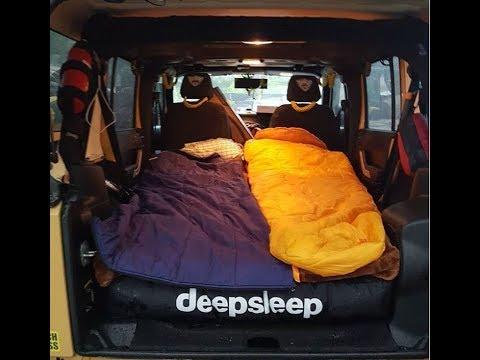 Sleeping In My Jeep Deepsleep Mattress Review Deepsleep4jeep