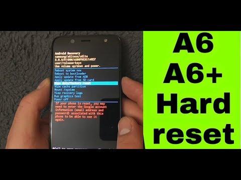 Samsung Galaxy A6+ (2019) Hard Reset screen lock pattern unlock