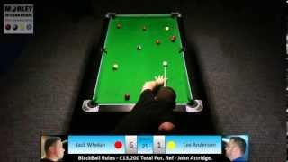 £13k MoneyMatch: Jack Whelan V Lee Anderson, BlackBall Rules.