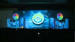 Stage 3D Video Mapping, Product Launching IBM Co