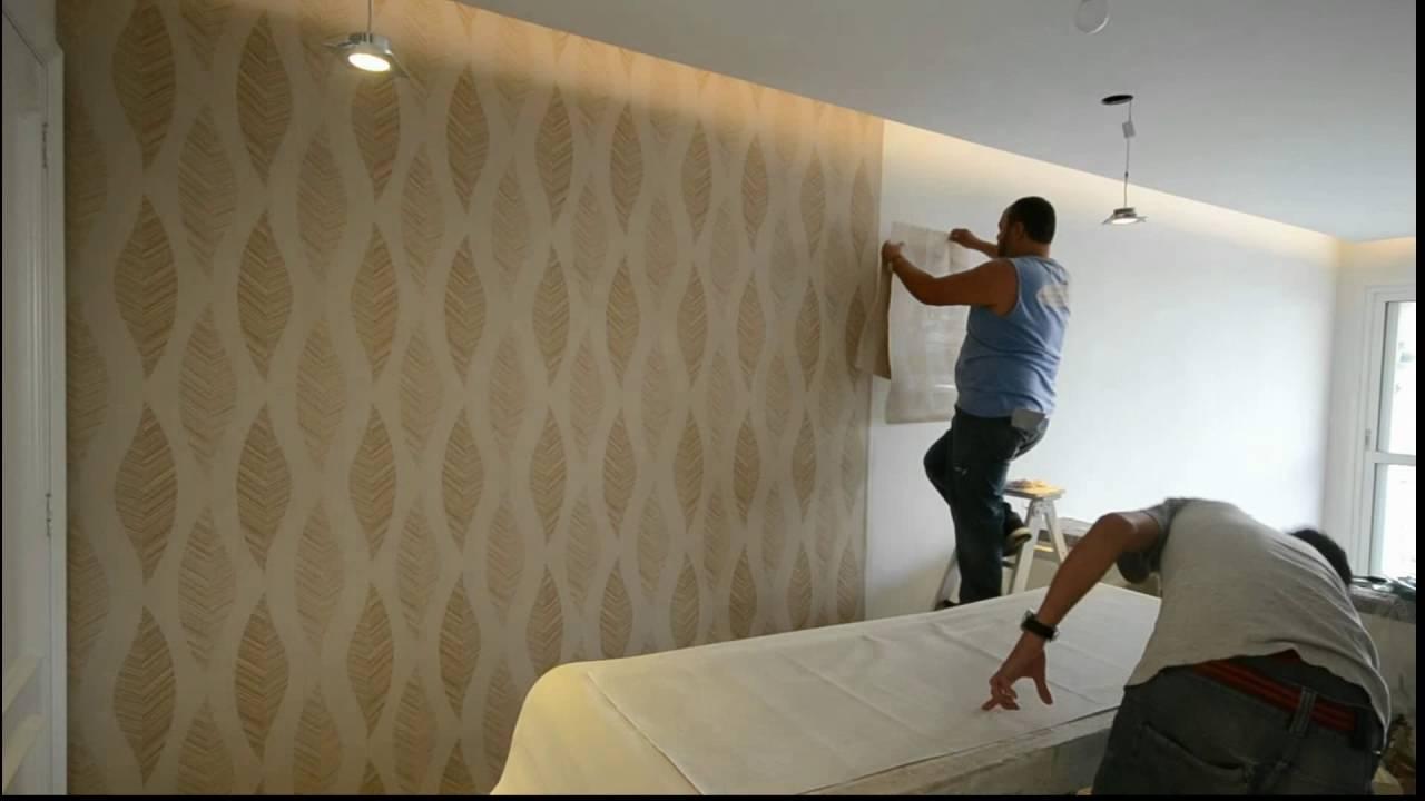 Dicas para a instala o do papel de parede youtube - Papel vinilico para paredes ...