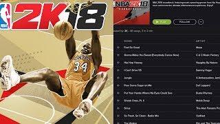NBA 2K18 SOUNDTRACK OFFICIALLY REVEALED!