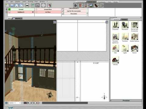 3d home design by livecad tutorials 10 balustrade youtube. Black Bedroom Furniture Sets. Home Design Ideas