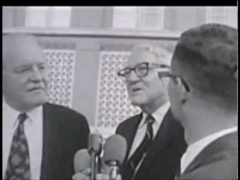 July 1964 - Warren Commission members Allen W. Dulles and John Sherman Cooper in Dealey Plaza