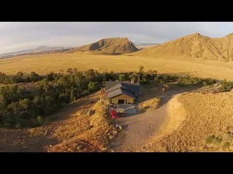 Drone over Wyoming home