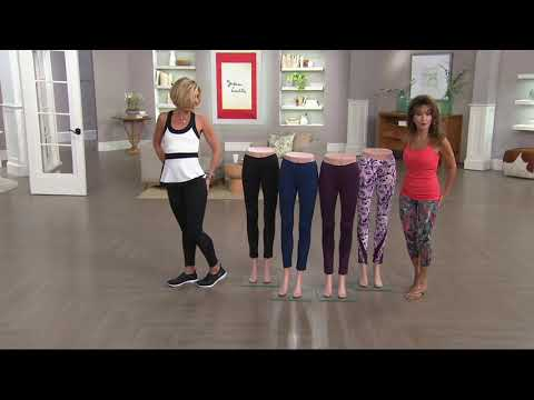 Susan Lucci Collection Ankle Leggings with Mesh Detail on QVC