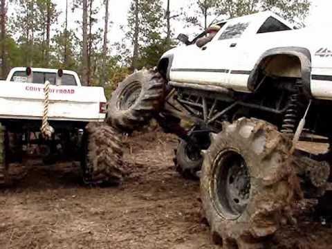 Huge Custom Big Block Chevy 4x4 Mud Truck Flexing On Gmc