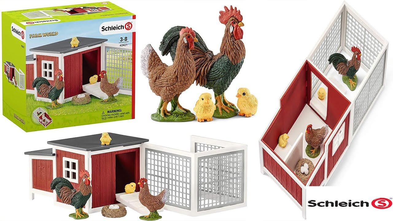 Schleich Vida-Modelo 42421 Granja de pollos Coop