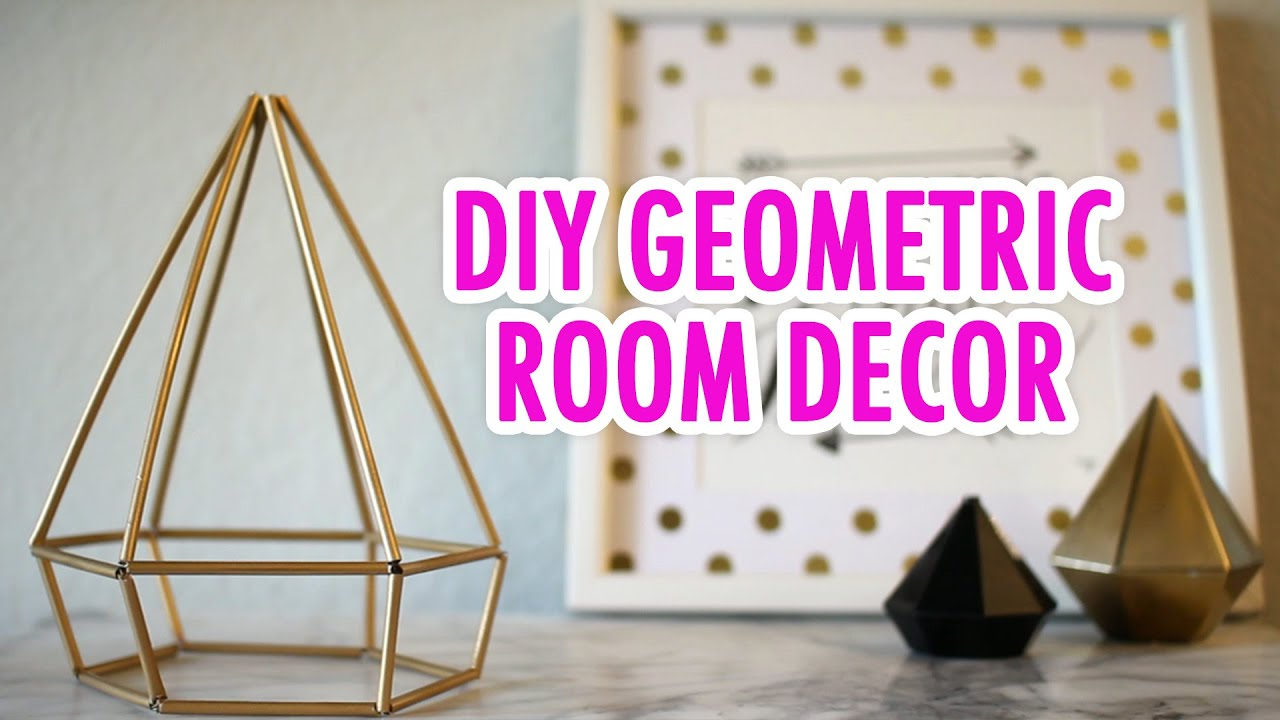 diy geometric room decor - hgtv handmade - youtube