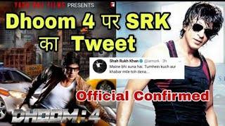 Asksrk Shahrukh Khan top 2 reply in fan with bollywood and dhoom 4 SRK