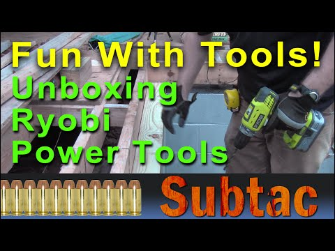 Fun With Tools   Unboxing Ryobi Power Tools