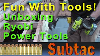 Fun With Tools | Unboxing Ryobi Power Tools