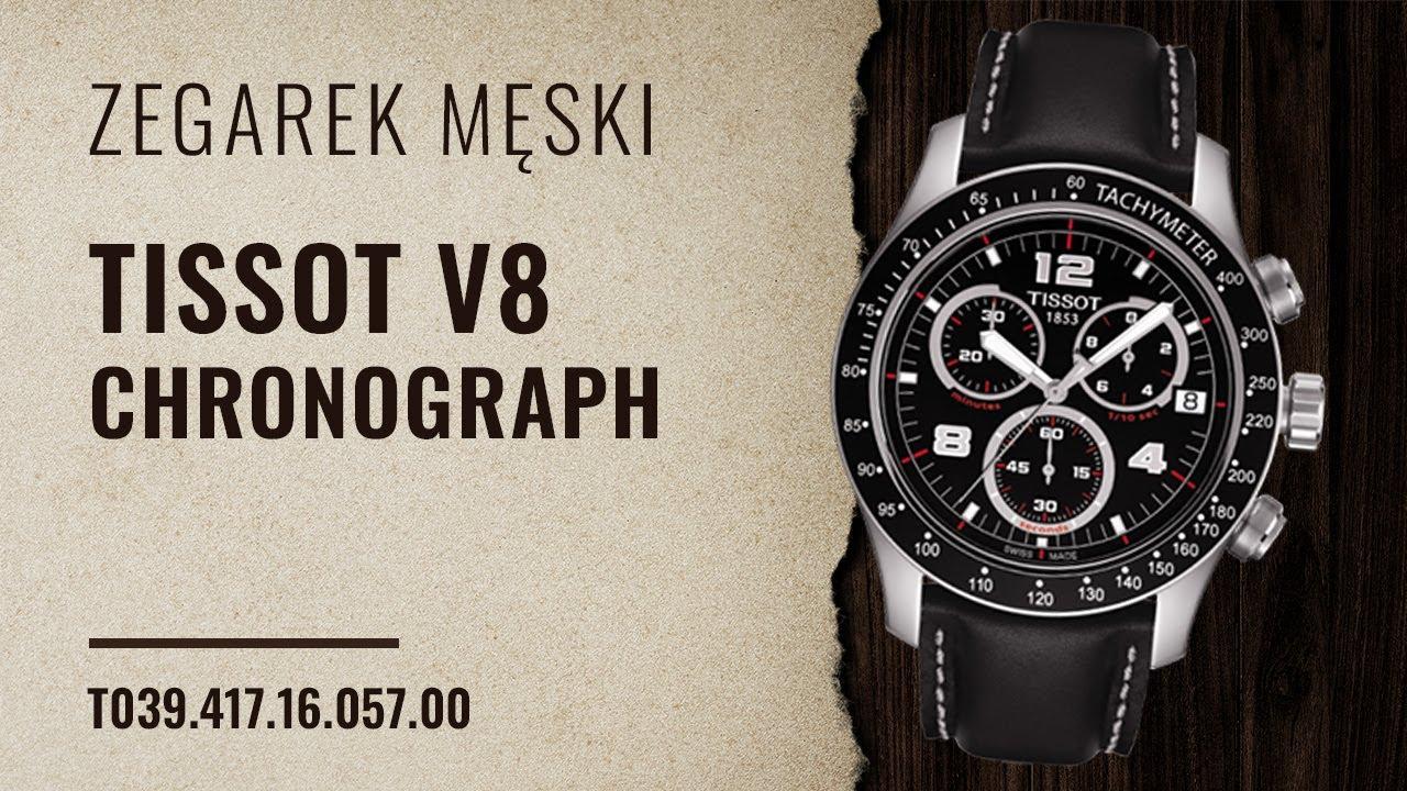 Zegarek Tissot V8 Chronograph T039 417 16 057 00 Zegarownia Pl