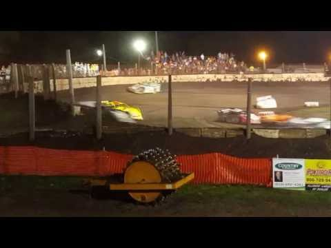 Part 2 Fairbury American Legion Speedway Summer Nationals  June 25 2016 late models