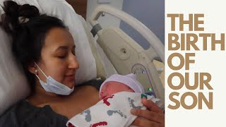OFFICIAL LABOR AND DELIVERY VLOG!! I PUSHED HIM OUT IN 4 MINUTES!