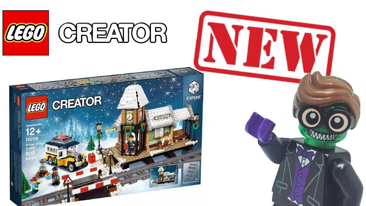 Lego 2017 Winter Village Train Station Revealed - YouTube
