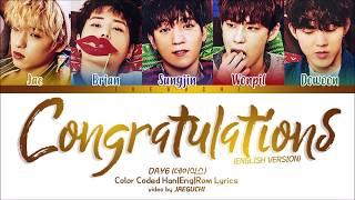 Download lagu DAY6 Congratulations Color Coded Lyrics