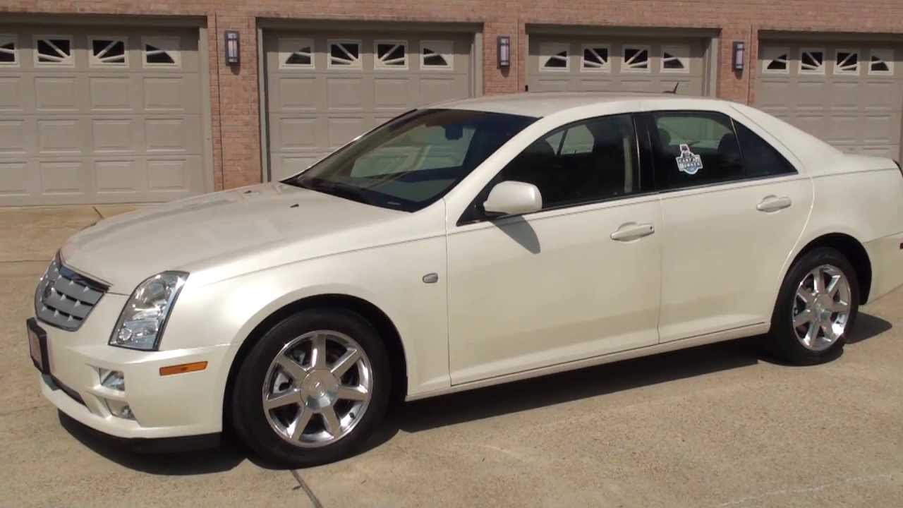 hd video 2005 cadillac sts white diamond used for sale see. Black Bedroom Furniture Sets. Home Design Ideas