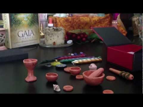 Mini Wiccan Altar kit