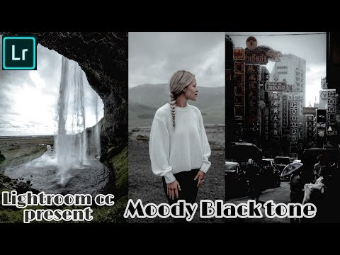 Lightroom cc Mobile present - How to Edit Moody Black tone Effects | By K.K. Editz