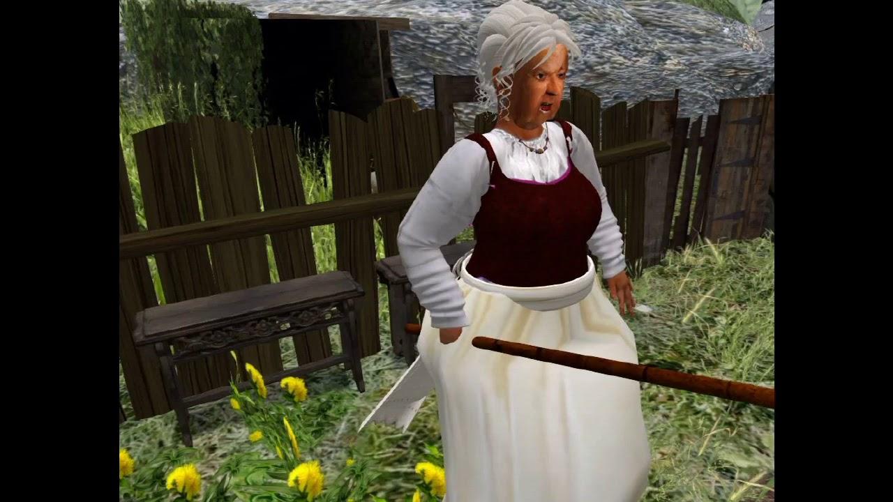 Oma Im Garten