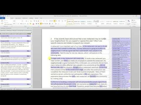 TOEFL Type 2 Essay Evaluation (New Restaurant)