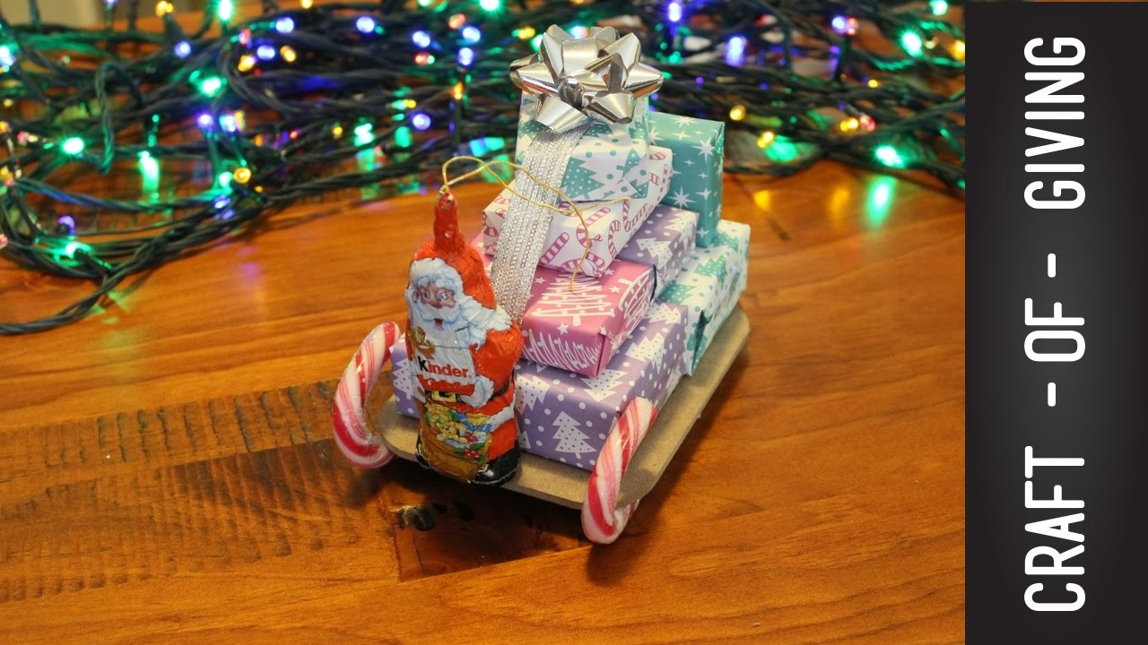 DIY Santa Sleigh with Gifts | Craft of Giving - YouTube
