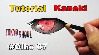 Como Desenhar Olho do Kaneki Tokyo Ghoul - How to Draw Eye of Kaneki