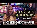 FINALLY! Got the FREE SPINS on Zeus Son of Kronos Slot Machine!