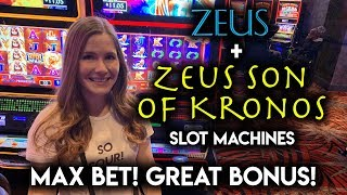 FINALLY! Got the FREE SPINS on Zeus Son of Kronos Slot Machine!