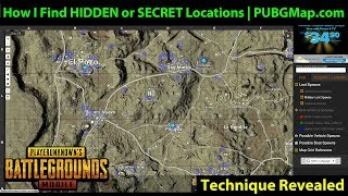 How I Find SECRET or HIDDEN Locations - DerekG's Technique REVEALED | PUBGMap.com Interactive Map