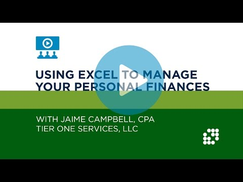 Using Excel to Manage Your Personal Finances Tutorial | NJCPA