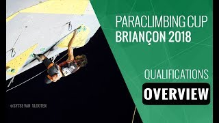 Paraclimbing Cup Briançon 2018 - Qualifications Overview