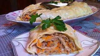 Ханум по-узбекски / Ленивые Манты / Рулет с Мясом на Пару / Простой Рецепт (Очень Вкусно)