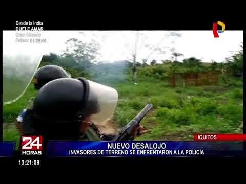Iquitos: se registró nuevo desalojo en la carretera Santo Tomás
